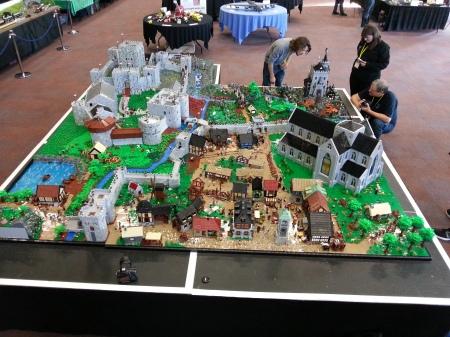 Medieval diorama