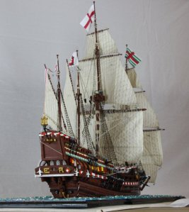 "English Warship ""Revenge"""