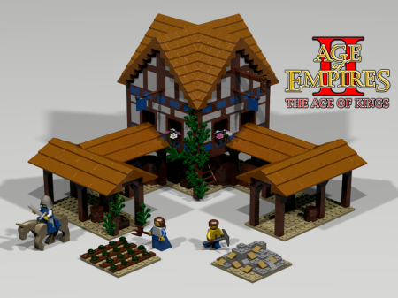 Lego Town center from Age of Empires 2: Age of Kings RTS game.