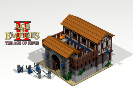 Lego Barracks from Age of Empires 2: Age of Kings RTS game