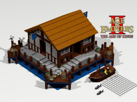 Lego Dock from Age of Empires 2: Age of Kings RTS game.