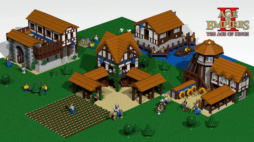 Lego Age of Empires II layout