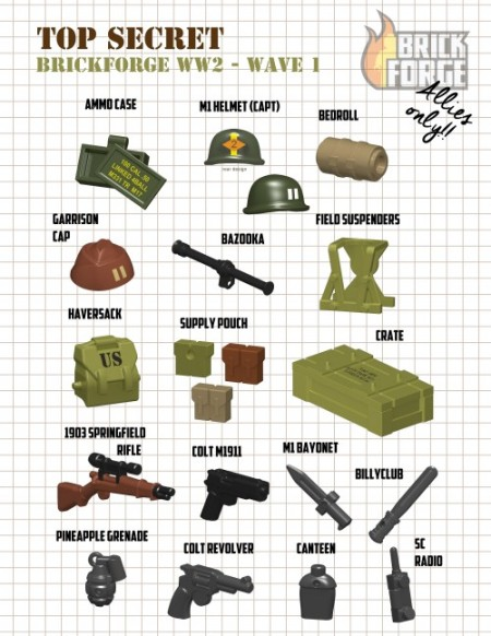 Brickforge rigged WWII items
