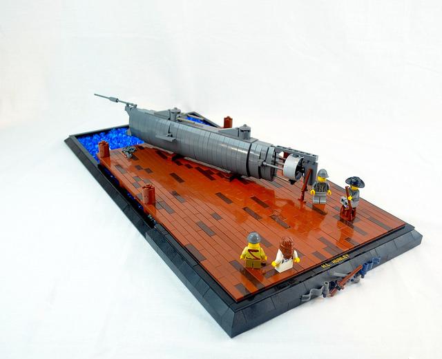 H.L. Hunley submarine